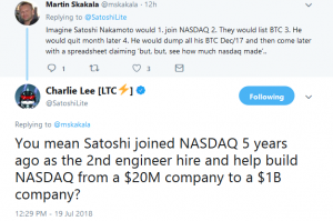 Charlie Lee Deleted Post On Coinbase