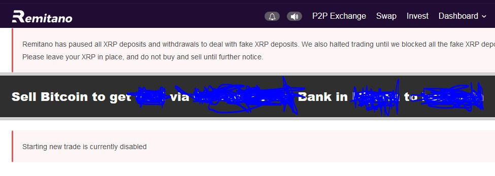 Remitano Fake XRP Deposit 2