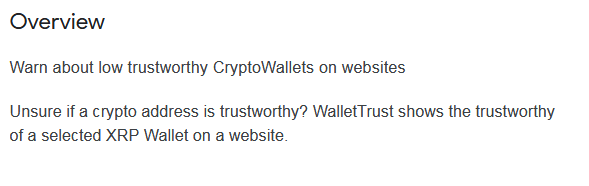 Google Chrome Adds WalletTrust for Ripple's XRP Transactions Trustworthiness. First of Its Kinds
